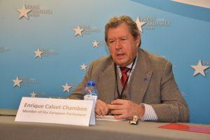 Conférence de presse du Député Européen Enrique Calvet Chambon
