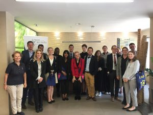 American students in journalism visit the Press Club