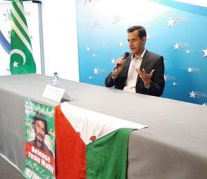 Conférence de presse du Front de Libération du Jammu-Cachemire pour la réunification et l'indépendance du Cachemire