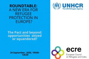 UNHCR and ECRE organised a roundtable meeting entitled: a new era for refugee protection in Europe? The Pact and beyond: opportunities seized or squandered?