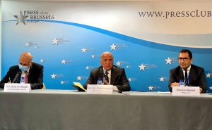 Press Conference of the Iraqi Foreign Minister Mr. Fuad Hussein during his visit to Brussels